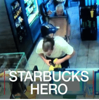 25 JUL: An armed robber thought a coffee shop would be an easy target - it turned out to be anything but. The suspect tried to rob a Starbucks cafe in Fresno, California, wearing a Transformers mask and armed with a knife and a replica gun, but was tackled by a customer. Both men received stab wounds in the ensuing fight, and are recovering from their wounds. For more heroics: bbc.in-hero Fresno California Starbucks Crime Hero BBCShorts BBCNews @BBCNews: STARBUCKS  HERO 25 JUL: An armed robber thought a coffee shop would be an easy target - it turned out to be anything but. The suspect tried to rob a Starbucks cafe in Fresno, California, wearing a Transformers mask and armed with a knife and a replica gun, but was tackled by a customer. Both men received stab wounds in the ensuing fight, and are recovering from their wounds. For more heroics: bbc.in-hero Fresno California Starbucks Crime Hero BBCShorts BBCNews @BBCNews