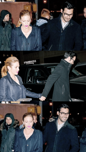 aliciaavikander: Brittany Snow and Tyler Hoechlin are seen in SoHo on February 13, 2015 in New York City.: STARBUCKS   S NE aliciaavikander: Brittany Snow and Tyler Hoechlin are seen in SoHo on February 13, 2015 in New York City.