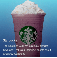 Imma rewatch Fairy Tail: Starbucks  The Pokémon GO Frappuccino® blended  beverage  ask your Starbucks barista about  pricing & availability Imma rewatch Fairy Tail