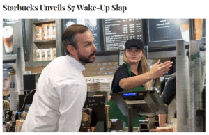 trashboat: my favourite part of this image is how professionally she is delivering that slap: Starbucks Unveils S7 Wake-Up Slap trashboat: my favourite part of this image is how professionally she is delivering that slap