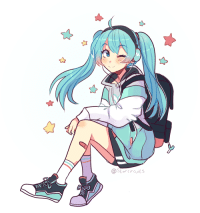 starcircuits: Miku Monday #2: Hatsune Miku Music Cafe Collab Miku I love this Miku design she looks like a little college student waiting for the bus ahaha. This one was suggested by the ever-lovely @theyuricanon check out their works for lots of gay goodness and cute LGBT+ stories including some cute Vocaloid gays! : @Starcircuits starcircuits: Miku Monday #2: Hatsune Miku Music Cafe Collab Miku I love this Miku design she looks like a little college student waiting for the bus ahaha. This one was suggested by the ever-lovely @theyuricanon check out their works for lots of gay goodness and cute LGBT+ stories including some cute Vocaloid gays!