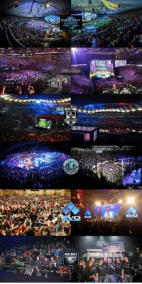STARCRAFT  international  CALL DUTY Crowds for different competitive gaming events: