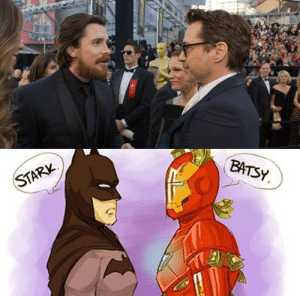 the-kellephant: david-tennants-little-fangirl:    I still laugh at this every single time I see it. : STARK  BATSY. the-kellephant: david-tennants-little-fangirl:    I still laugh at this every single time I see it.