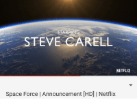 Michael Scott in space: STARRIN  STEVE CARELL  NETFLIX  Space Force | Announcement [HD] | Netflix Michael Scott in space