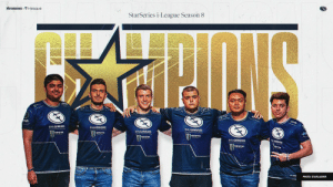 We are your StarSeries i-League Season 8 Champions!   @Brehze @cerq @The_nahtE @tarik @peterjarguz @ImAPet1  (Who says we need a crowd? 😉) https://t.co/tJACCaUD1q: STARSERIESi-league  StarSeries i-League Season 8  EVILGENIUSES  EVILCENIUSES  .CENUSES  EVILGENIUSES  PHOTO: STARLADDER We are your StarSeries i-League Season 8 Champions!   @Brehze @cerq @The_nahtE @tarik @peterjarguz @ImAPet1  (Who says we need a crowd? 😉) https://t.co/tJACCaUD1q