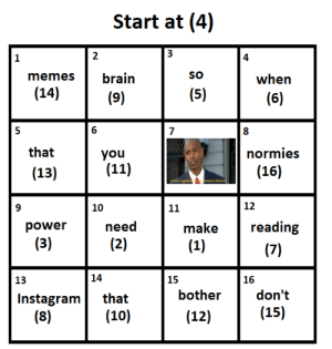 Dank, Instagram, and Meme: Start at (4)  2  4  memes brain  SO  when  (14)  6  that  you  normies  (16)  (13)  10  12  power  need  make  reading  13  14  15  16  don't  15)  Instagram that  bother  (10)  (12) This meme will always be relevant by Blockinite MORE MEMES