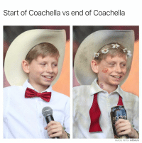 PSA: Hydrate and use protection out there 🤩🔥: Start of Coachella vs end of Coachella  MADE WITH MOMUS PSA: Hydrate and use protection out there 🤩🔥