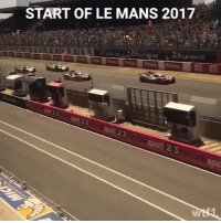 Memes, Video, and 🤖: START OF LE MANS 2017  TOTAL TOTAL TOTAL TOTAL  Sport 23  Sport 23 Le Mans is go! Give this video a like if you're watching 🇫🇷 lemans24 wec motorsport wtf1
