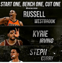 🏀Start, bench and cut one. (via @pristine.studios) 🤔 DOUBLE TAP & TAG a friend.🏀 nba nba2k17 nbaplayoffs nbamemes ➡ ADD us on Snapchat 👻 - ballershype ➡TURN ON POST NOTIFICATIONS 💥 ➡ FOLLOW my other account @ballershype❗ ➡ FOLLOW us on Twitter (Link in bio!): START ONE, BENCH ONE, CUTONE  PRISTINE STUDIOS  RUSSELL  WESTBROOK  KYRIE  IRVING  STEPH  CURRY 🏀Start, bench and cut one. (via @pristine.studios) 🤔 DOUBLE TAP & TAG a friend.🏀 nba nba2k17 nbaplayoffs nbamemes ➡ ADD us on Snapchat 👻 - ballershype ➡TURN ON POST NOTIFICATIONS 💥 ➡ FOLLOW my other account @ballershype❗ ➡ FOLLOW us on Twitter (Link in bio!)