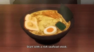 How to make Ramen…: Start with a rich seafood stock. How to make Ramen…