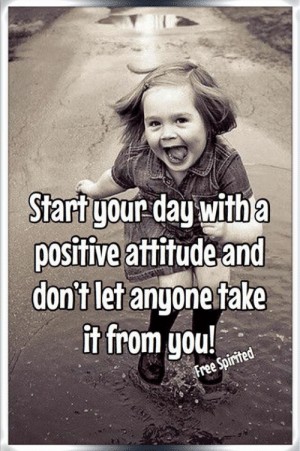 Fake, Memes, and Free: Start your day with a  positive attitude and  don't let anyone fake  it from you!  Free Spirited
