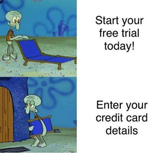 Creditably: Start your  free trial  today!  Enter your  credit card  details