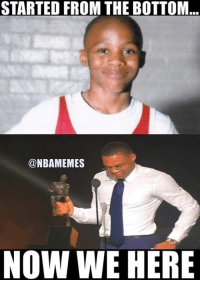 Congratulations to Russell Westbrook! #ThunderNation: STARTED FROM THE BOTTOM  @NBAMEMES  NOW WE HERE Congratulations to Russell Westbrook! #ThunderNation