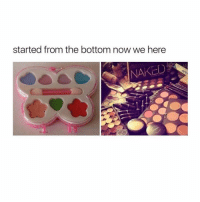 For real tho, still wish I had that pallet on the left ( @zero_fucksgirl ): started from the bottom now we here  NAKED For real tho, still wish I had that pallet on the left ( @zero_fucksgirl )