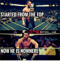 Birthday, Memes, and World Wrestling Entertainment: STARTED FROM THE TOP  @sim  wwe  NOW HE ISNOWHERE Happy birthday to one of my favorite wrestler rn sami zayn!🍻 ________ Hope you'll get what you deserve asap O:-) ________ Enjoy your day man, Let's Go 💪🙌🤘 fuckyouvince samizayn underappriciated ( wwe wwememes wwememe randyorton alexabliss romanreigns sethrollins theshield kevinowens themiz cmpunk braunstrowman jindermahal chrisjericho raw johncena smackdownlive braunstrowman ajstyles samizayn finnbalor braywyatt cesaro brocklesnar Samoajoe bitw jindermahal)
