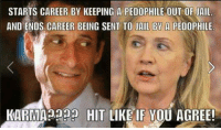 A girl can dream can't she? ~Pandora   Minuteman Militia: STARTS CAREER BY KEEPING A PEDOPHILE OUT OF AIL  AND ENDS CAREER BEING SENT TO JAIL BY A PEDOPHILE  KARMA HIT LIKE IF YOU AGREE! A girl can dream can't she? ~Pandora   Minuteman Militia