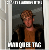 STARTS LEARNING HTML MARQUEE TAG Scumbag Coder | Tagged Meme on ME ME