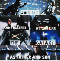 Jedi, Memes, and Babes: @starwars babe  THE  AS FATHER  LE  GALAX  MAIN  SON Luke and Vader💕Father and Son ~ •join me and together we can rule the Galaxy as father and son• ~ { sithlords jedi lukeskywalker darthvader anikenskywalker starwars darkside starwars maytheforcebewithyou galaxy joinme}