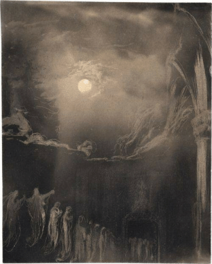 starxgoddess:Mystical procession by the fullmoon, Graphite and scratching technique on gray prepared vellum, c. 1890: starxgoddess:Mystical procession by the fullmoon, Graphite and scratching technique on gray prepared vellum, c. 1890