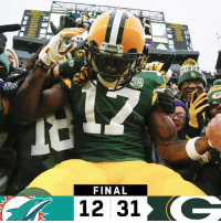 Memes, Packers, and 🤖: stasies  FINAL  12 31 FINAL: @packers WIN in Week 10! #MIAvsGB #GoPackGo https://t.co/2XjqmdnayT