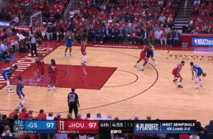 Sports, Best, and State Farm: State Farm  42  IGS 97 R  PLAVOFIS WEST SEHNAL  4HOU 97 4th 4:5513  GS Leads 3-2  TIMEOUTS:3  arcusb3 Steph Curry, the best shooter of all time https://t.co/XV1IysVyL7