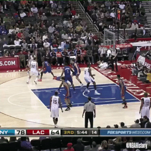 One of the most disrespectful dunks ever! https://t.co/pqxJasCkl3: State Farm  agRISE  S.COM  32  10  ato  15  FOXSPORTS WEST.COM  64 3RD 5:44 14  LAC  7B  NY  ONBAHistory One of the most disrespectful dunks ever! https://t.co/pqxJasCkl3