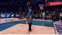 DIALLO REALLY DID THE VINCE ELBOW DUNK OVER SHAQ.: State Farm  SLAM DIALLO REALLY DID THE VINCE ELBOW DUNK OVER SHAQ.