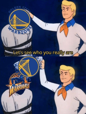 The sad truth? 🤔  #Warriors #NBA https://t.co/N3JhjGfuWG: STATE  GOLDEN  PARKMON  Let's see who you really are  N  RS  ARRIORS  STAT  WAR The sad truth? 🤔  #Warriors #NBA https://t.co/N3JhjGfuWG