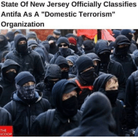 """Funny, Memes, and Politics: State Of New Jersey Officially Classifies  Antifa As A """"Domestic Terrorism""""  Organization  THE  SCOOP Repost from @_american.made The Office of Homeland Security and Preparedness in New Jersey has officially designated Antifa as a domestic terrorist organization following months of sporadic violence across the country. Every state should do the same. liberal Trump MAGA PresidentTrump NotMyPresident USA theredpill nothingleft conservative republican libtard regressiveleft makeamericagreatagain DonaldTrump mypresident buildthewall memes funny politics rightwing blm snowflakes"""