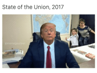 Good afternoon to everyone except the person that made this 😂😂 (@memegourmet): State of the Union, 2017  (a meme gourmet  IG: @memegourmet Good afternoon to everyone except the person that made this 😂😂 (@memegourmet)