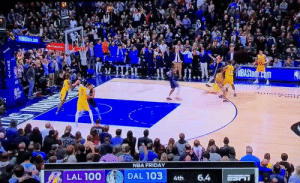 DANNY GREEN IS CLUTCH🔥 https://t.co/ihmqlNugOQ: StateFarm  NBASton com  NBA FRIDAY  DAL 103  LAL 100  6.4  4th DANNY GREEN IS CLUTCH🔥 https://t.co/ihmqlNugOQ