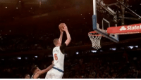 """Memes, Monster, and Smooth: Statel Repost @nba: """"Smooth moves, monster slams, emphatic swats... @kporzee is doing it all for the @nyknicks! NBAMiniMix"""" Knicks Porzingis 👏🏀 WSHH"""