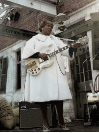 vaticanrust:  Sister Rosetta Tharpe. Manchester, 1964  Who is she? I dont think Ive ever heard of her before..: STATION M  VOX vaticanrust:  Sister Rosetta Tharpe. Manchester, 1964  Who is she? I dont think Ive ever heard of her before..