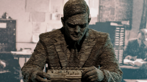 Been, Alan Turing, and Turing: Statue of Alan Turing at the Bletchley Park Museum. So glad he has been chosen to be on the new £50 note!