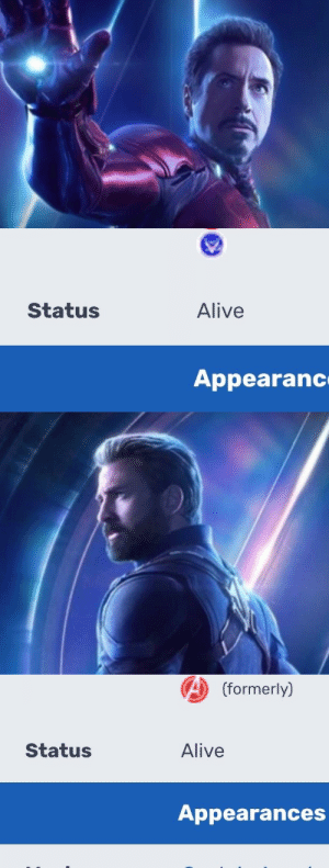 Alive, Target, and Tumblr: Status  Alive  Appearanc   A (formerly)  Status  Alive  Appearances marvelrose:Reblog while you still can