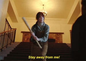Mrw, Game, and Good: Stay away from me! MRW I start a new multiplayer game at Level 1 and have no good armor or weapons