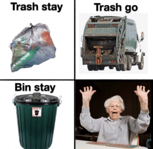 Stay bin, stay by Spanish-Inquistion MORE MEMES: Stay bin, stay by Spanish-Inquistion MORE MEMES