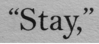 Stay: Stay,  Ce