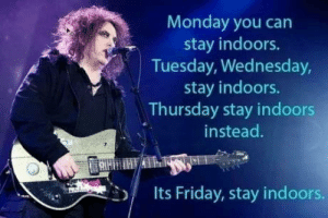 Stay indoors: Stay indoors