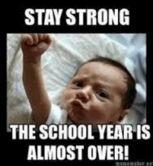 Image result for last day of school meme | Humor | Pinterest | Meme ...: STAY STRONG  THE SCHOOL YEAR IS  ALMOST OVER! Image result for last day of school meme | Humor | Pinterest | Meme ...
