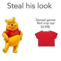 Steal his look  Damsel garnet  Red crop top  34.99$ • (Follow @quorn.hub.v2 for more funny posts😂👈🏻)