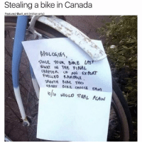 Norting: Stealing a bike in Canada  Featured @will ent (million only)  KT THE FINAL  CHAPTER OF AN Ex  noRT  SMOOTH RIDE THO  GREAT elkE uwolCE FAM  lollo WOULD STEAL faAIN