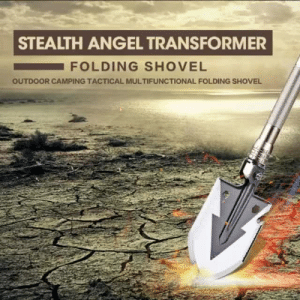 Crazy, Tumblr, and Angel: STEALTH ANGEL TRANSFORMER  FOLDING SHOVEL  OUTDOOR CAMPING TACTICAL MULTIFUNCTIONAL FOLDING SHOVEL stealthangelsurvival: This is a one of a kind shovel. This 15-in-1 shovel is the ultimate tool for camping, hiking, backpacking, gardening, and almost any other outdoor activity. Survivalists are going crazy for this survival shovel! GET YOURS HERE: https://www.stealthangelsurvival.com/products/15-in-1-multi-function-shovel  https://www.stealthangelsurvival.com/products/15-in-1-multi-function-shovel