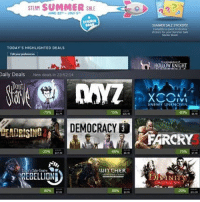 Summer sale is on guys!! . . Tau aje nih mang Gaben orang pade punya banyak duit lebaran. . . Udah pada beli game apa aja nih gengs ? :D dagelangaming gaming gamers games steamsummersale: STEAM SUMMER SALE  2  JUNE 22JULY S  STICKER  800  SUMMER SALE STICKERS  Conplete qest eceiwe  stickers for yoor Summer Sale  TODAY'S HIGHLIGHTED DEALS  HOLLOW KNIGHT  Dally Deals New deals in 23:5214  Doit  0ll  ENEMY UNKNOWN  75%  43%  ss 74  DEMOCRACY  FARCRY  25%  75%  WInSHER  REBELLION  ORIGINALSN  -80% p99  20%  34.99 Summer sale is on guys!! . . Tau aje nih mang Gaben orang pade punya banyak duit lebaran. . . Udah pada beli game apa aja nih gengs ? :D dagelangaming gaming gamers games steamsummersale