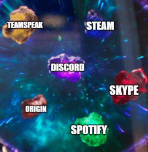 Me *Starts Computer* Discord Spotify and Steam Me Irl