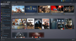 Steam Beta has a new library ui: Steam View Friends Games Help  X  RoscoePCookie $1.89  STORE LIBRARY COMMUNITY ROSCOEPCOOKIE  ВЕТА  НОМE  WHAT'S NEW  1 week ago  1 week ago  1 week ago  This week  This week  FILTERED LIST  20  EARS  FAVORITES (8)  GD COunter-Strike: Global Offensive - l  Deceit  Insurgency: Sandstorm - Update Q  BATTLEGROUNDS  PlanetSide 2  UPDATE 1.16 - AIM, FLY AND FIRE  PUBG Halloween 2019 Skins are comin  Horse Equipment Update  CS20 Submission Deadline Extended  Update 4.3- Now Live!  PUBG PLAYERUNKNOWN'S BATTLEGROU  Rust  HHeroes & Generals  PUES PLAYERUNKNOWN'S BATTLEGROUNDS  PUBG PLAYERUNKNOWN 'S BATTLEG ROUNDS  AGO COunter-Strike: Global Offensive  Team Fortress 2- Update Queued  Tom Clancy's Rainbow Six Siege  zi Battle Royale - Update Paused  RECENT GAMES  BASICALLY MOBILE (3)  Today  1 week ago  3 weeks ago  September  July  August  Direct  22  TEAM FORTRESS 2  Reroll: Back to the throne  INSURGENCY  grand  Athert  auto  SC Startup Company - Update Paused  HALF LIFE2  SANDSTORM  DEATHGARDEN  FPS (8)  Arma 3  RAINBOWSIN SIEGE  AGO COunter-Stri ke: Global Offensive -  Deceit  Insurgency  PlanetSide 2  TIME PLAYED  Last two weeks: 0 min  Total: 19 hrs  Star Wars: Battlefront 2 (Classic, 20  COUNTER STRIKE  Team Fortress 2 - Update Queued  Tom Clancy's Rainbow Six Siege  HORROR (2)  ADeceit  RECENT FRIEND ACTIVITY  Outlast  Try something new  Trending  SURVIVAL (3)  ARK: Survival Of The Fittest  Deceit  DESTINY2  COUNTER STRIKE  Rust - Update Queued  - TDS (6)  ИЕ  CH Company of Heroes  CH Company of Heroes - Legacy Editic  DOWNLOADING  FRIENDS  & CHAT  +ADD A GAME  0 of 1 Items Complete  .:: Steam Beta has a new library ui