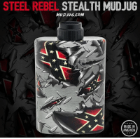 All new from @mudjug the first designed Stealth is Now Here! 👌🏻 Grab one at Mudjug.com! 🇺🇸 @mudjug @mudjug @mudjug: STEEL REBEL STEALTH MUD JUG  MUDJUG.COM  MADE IN  AMERICA All new from @mudjug the first designed Stealth is Now Here! 👌🏻 Grab one at Mudjug.com! 🇺🇸 @mudjug @mudjug @mudjug