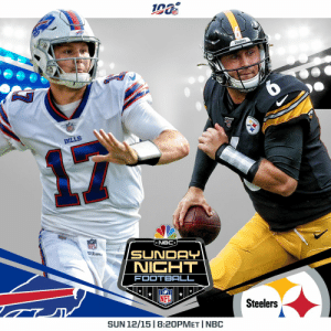 Week 15 Schedule Change: @BuffaloBills vs. @steelers has been flexed to Sunday Night Football, Dec. 15 at 8:20pm ET.  Vikings vs. Chargers has moved to 4:05pm ET on CBS. https://t.co/xtoolrwjD1: Steelers  BILLS  NBC  NFI  Dison  SUNDAY  NICHT  FOOTBALL  Steelers  SUN 12/15 | 8:20PMET I NBC Week 15 Schedule Change: @BuffaloBills vs. @steelers has been flexed to Sunday Night Football, Dec. 15 at 8:20pm ET.  Vikings vs. Chargers has moved to 4:05pm ET on CBS. https://t.co/xtoolrwjD1