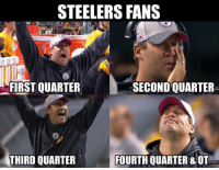 What a game..: STEELERS FANS  FIRST QUARTER  SECOND QUARTER  THIRD QUARTER  FOURTH QUARTER & OT What a game..