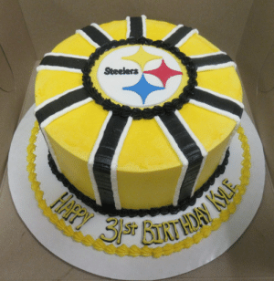 Excellent Steelers Ffpy 3 Bnthory Ke Pittsburgh Steelers Birthday Cake Funny Birthday Cards Online Alyptdamsfinfo